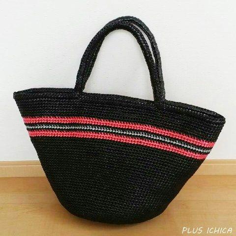 Marche BagSize/LColor/Black base, Red+Silver lines