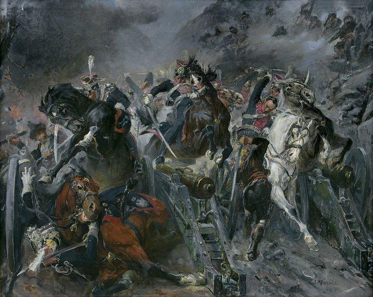 Stanisław Kaczor-Batowski: Samosierra, 1911 r., olej, płótno, 77 x 98 cm