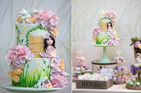 flower fairy cake by Bella Cupcakes enchanted fairy cake