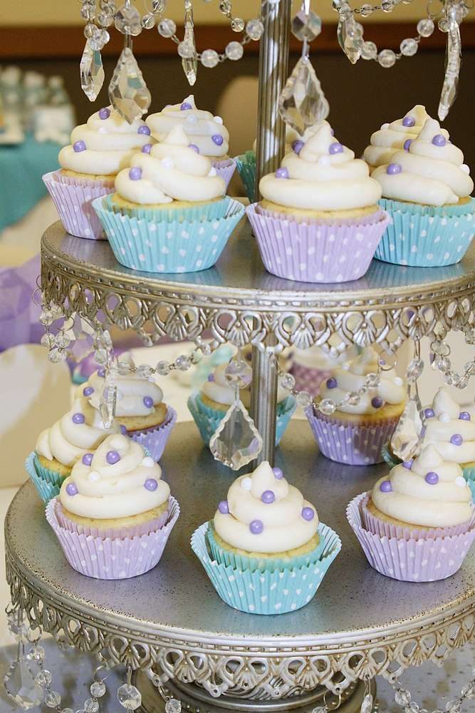 Gorgeous cupcakes at a mermaid birthday party! See more party ideas at CatchMyParty.com!