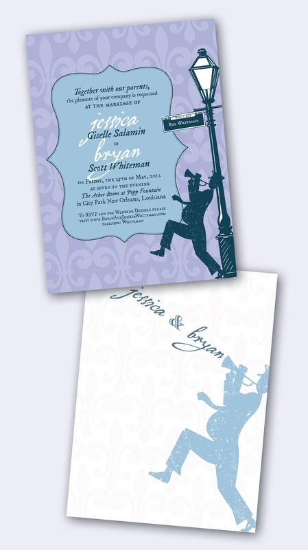 New Orleans Wedding Invitation New Orleans Invite