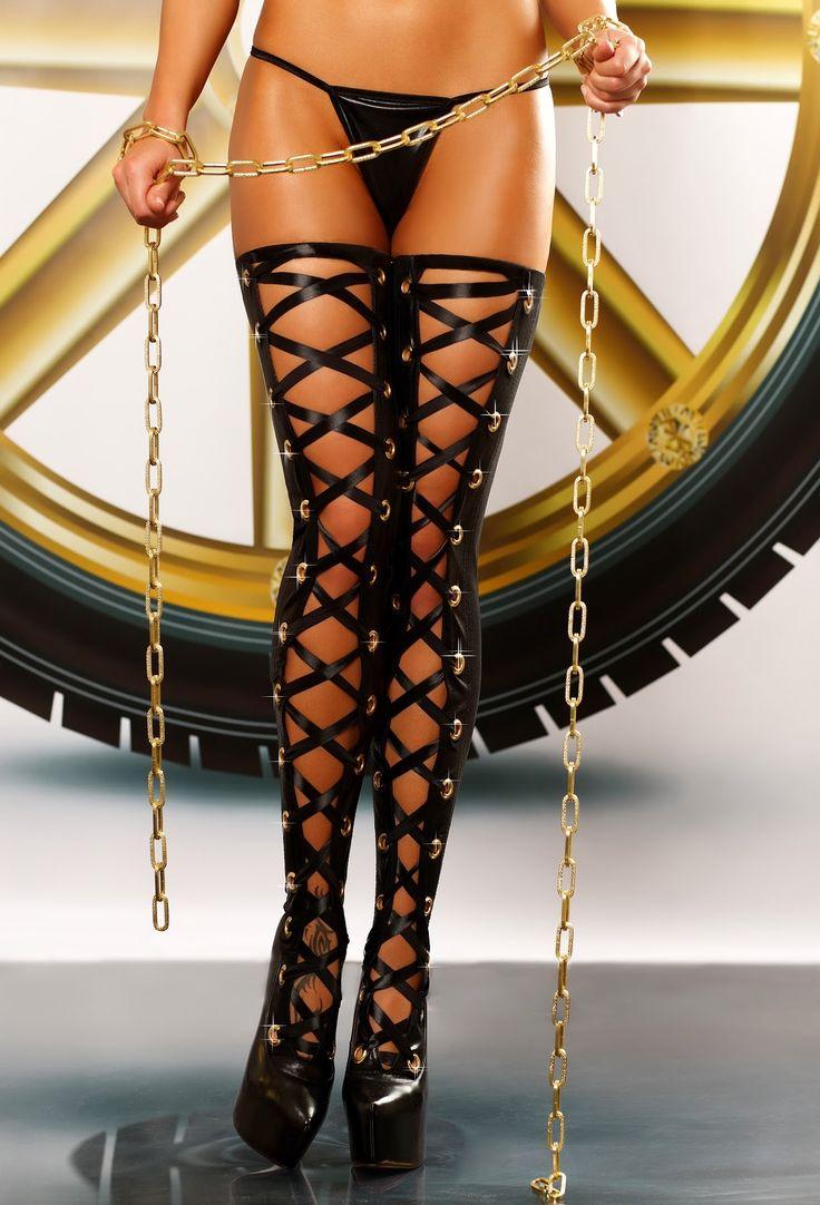 Lolitta - Bizarre seksowne pończochy lateksowe