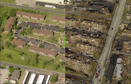 Before and After - Joplin Tornado May 22, 2011