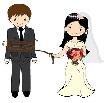 Desenho de Noivinhos para lembranças de casamento.