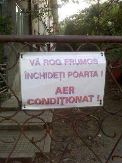 Aer conditionat.