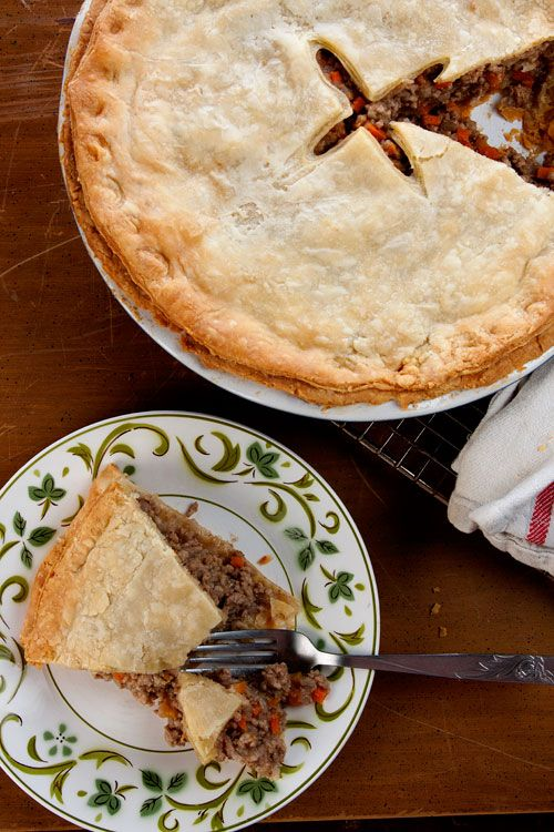 "Tourtière (Québécois Meat Pie) | The recipe for this French Canadian classic came from Saveur kitchen assistant and resident Canadian Anne-Marie White. ""This is my favorite kind of rustic home cooking,"" she says, ""and the apple cider and warming spices make it a perfect holiday dish."" 