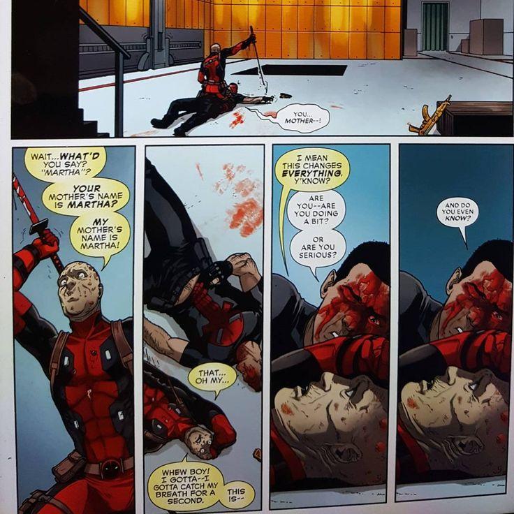 Deadpool at it again... #deadpoolvspunisher #martha #deadpool #punisher #marvel #comics #superman #batman #batmanvsuperman #lol #haha #summer #nerdist #geek #picoftheday #photooftheday #amazing #laugh #funny #humor #dc #hashtag #instagood #instagram #insta #insta http://misstagram.com/ipost/1553331491455255764/?code=BWOisL2nkTU