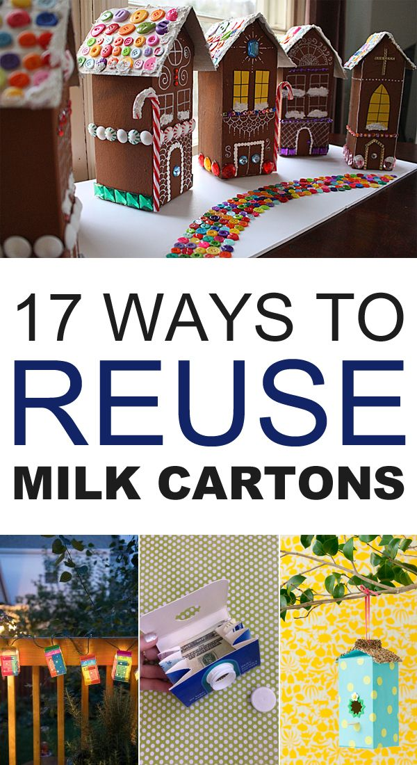 Empty milk cartons are handy for a variety of craft projects and uses around the home.