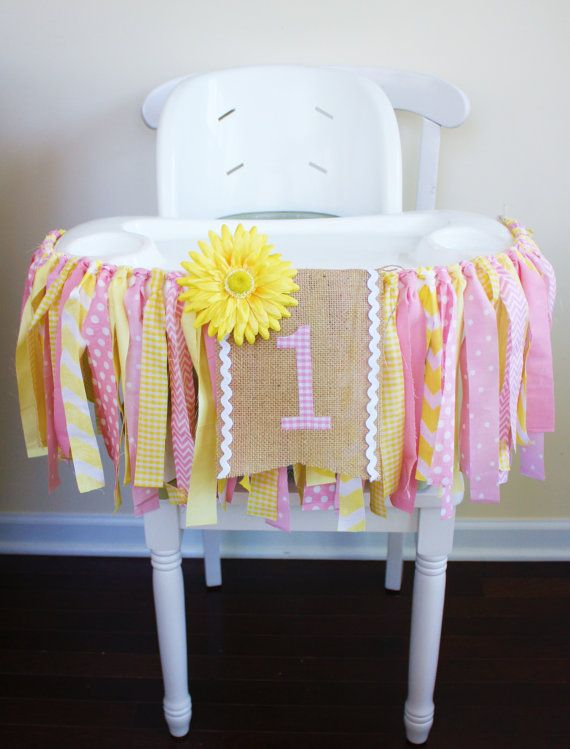 Pink Lemonade Highchair Banner, Cake Smash Banner, Photo Prop, You are my Sunshine Birthday Banner, Summer Banner, 1st Birthday Banner Party