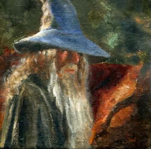 Lord Of The Rings Gandalf Oil Painting by Jeff Ward # ...