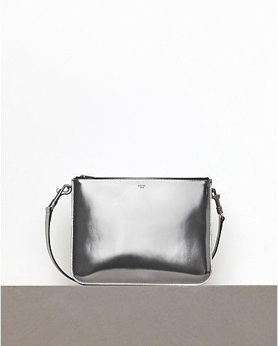 Celine Trio Edge Bag in Mirror Silver Winter 12 | Inside the ...