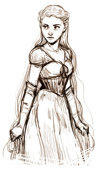One word to describe this medieval princess-looking female character: Beautiful!