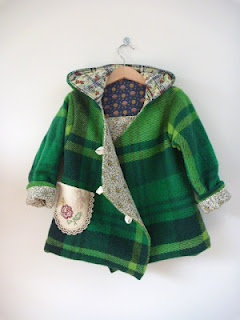 Coats from old wool blankets... SO cute!