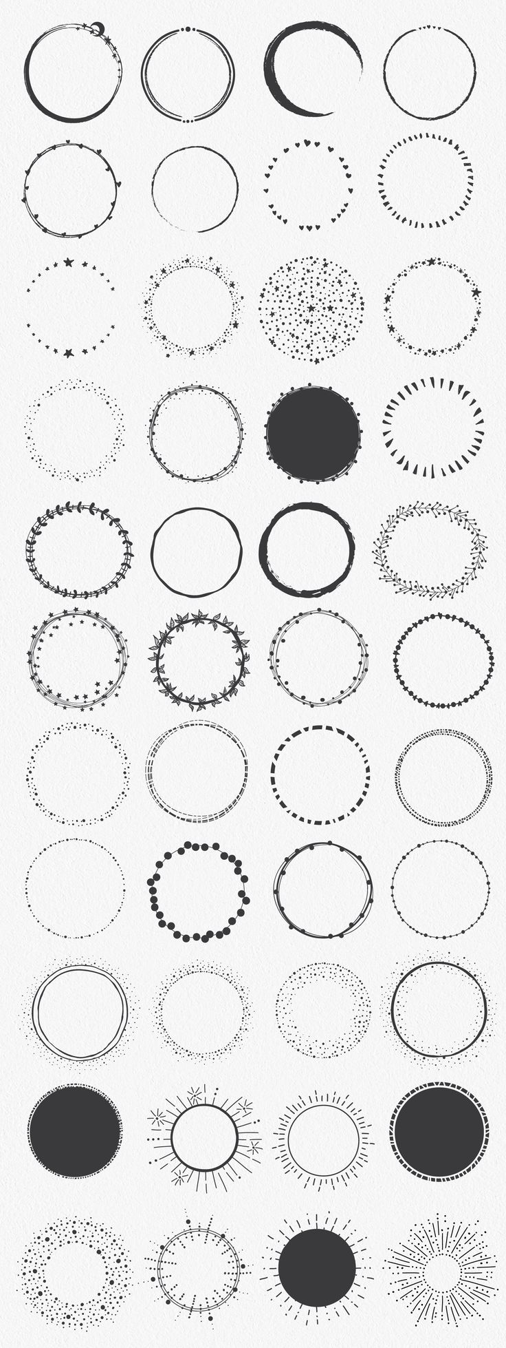 Hand Drawn Circle Shapes by lunalexx on Creative M…