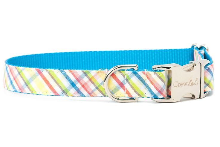 Pastel Plaid Dog Collar