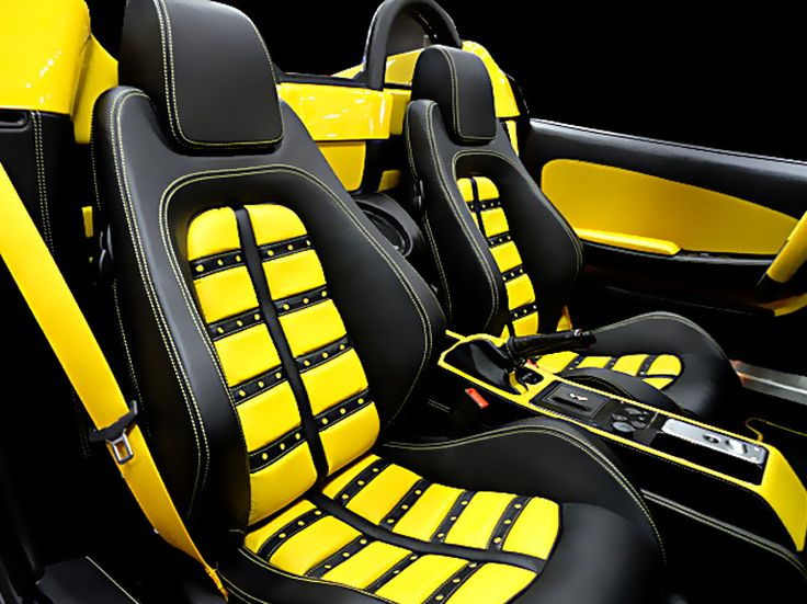 Ferrari 430 Black And Yellow Interior Spectrum Car Design Specialized In Automotive Designs Upholstery