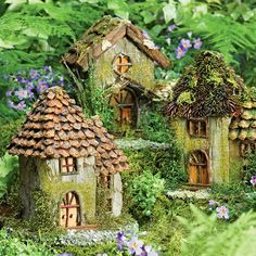 Fairy House -- I wonder if we could make these on the playground, starting with a cinder block...