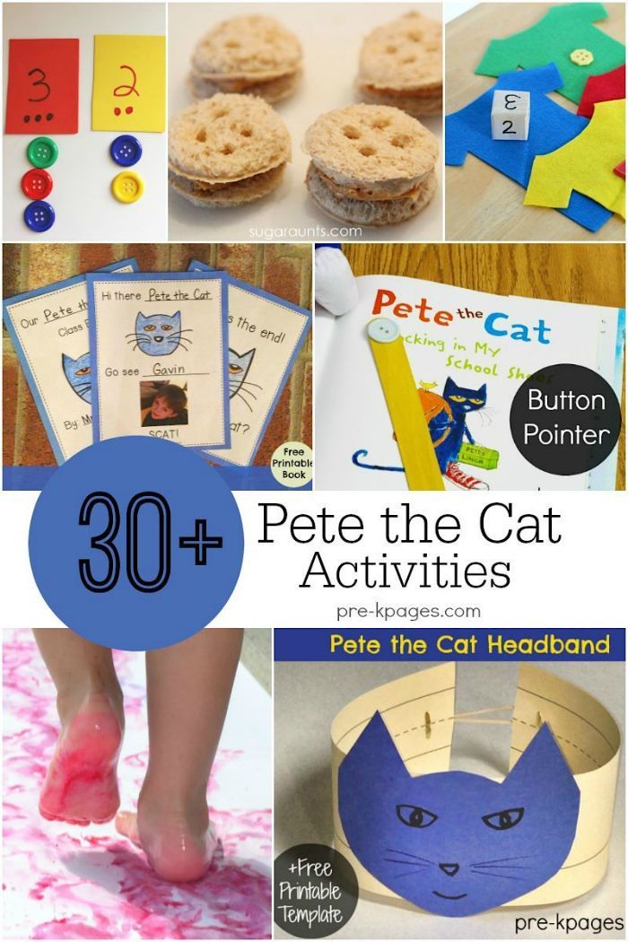 30+ Pete the Cat Activities! If your kids love Pete, these awesome ideas will be a great follow up to any of his books!