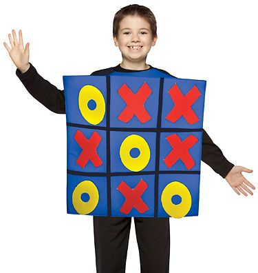 Kids Tic Tac Toe Board Game Funny Halloween Costume | eBay