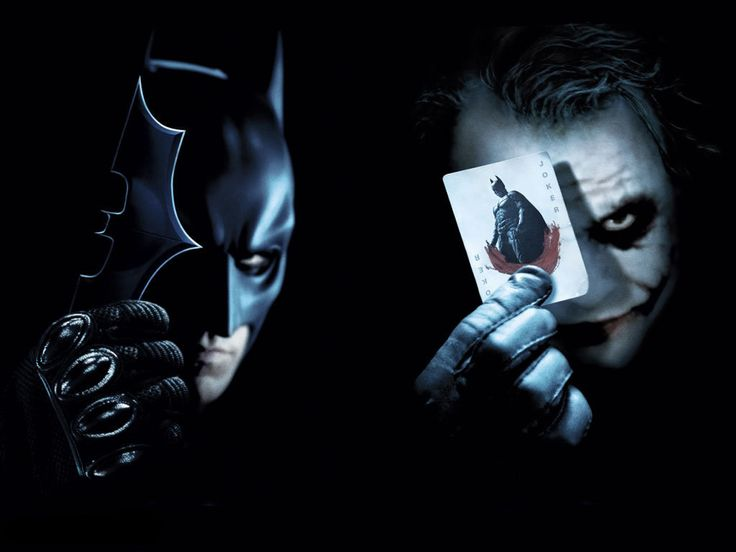 that's cool one side of joker and one side of batman