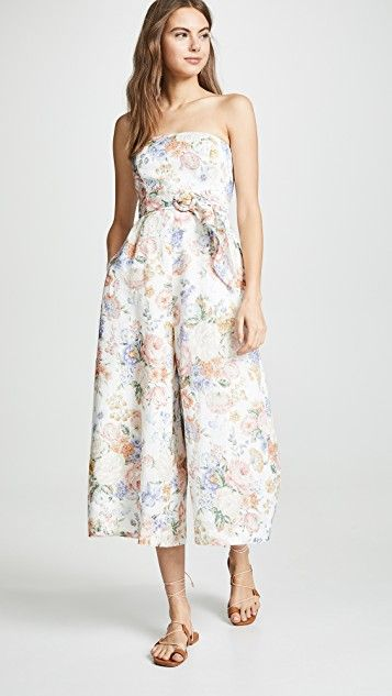 a79f825ef1a Zimmermann Bowie Strapless Jumpsuit