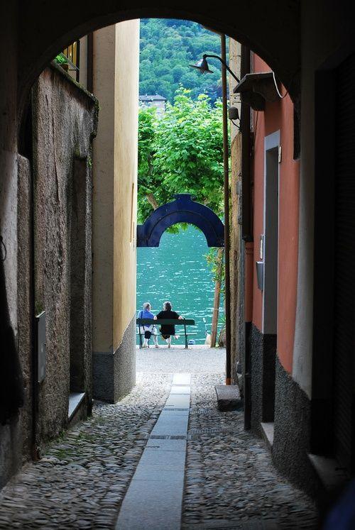 Narrow Passage, Lake Maggiore, Italy