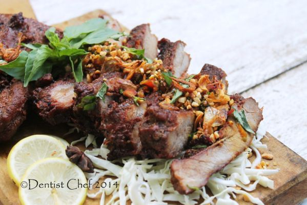 bali style grilled baby back ribs recipe spicy barbequed boneless pork ribs resep babi panggang bali