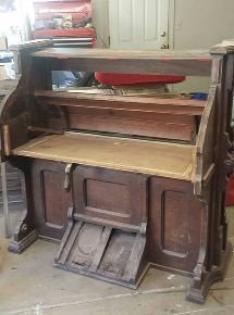 1800 s eastlake pump organ repurposed into a wine bar, repurposing upcycling