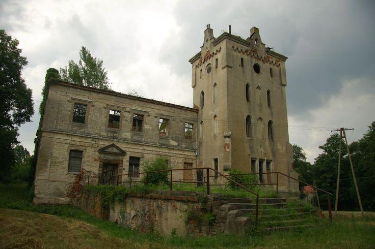 spalony pałac - Gałów