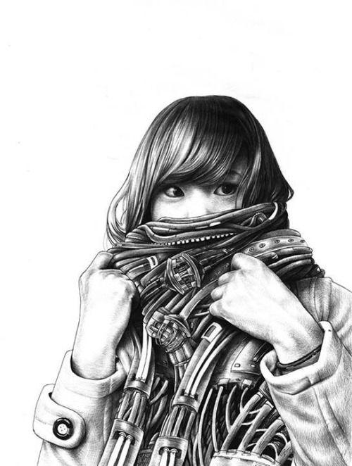 Multicultural Cyber-punk illustrations (Artist: Jamy van Zyl)