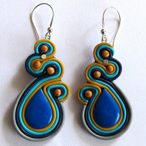 Orientalne Kobaltowe kolczyki