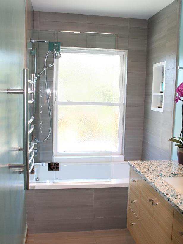 Glass walled bathtub with wall mounted flat screen tv designers portfolio hgtv home garden television