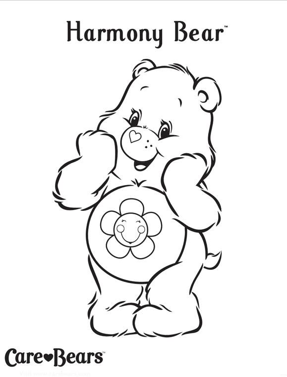 Care Bears Coloring Pages Harmony Bear Bear Coloring Pages Cute Coloring Pages Coloring Pages