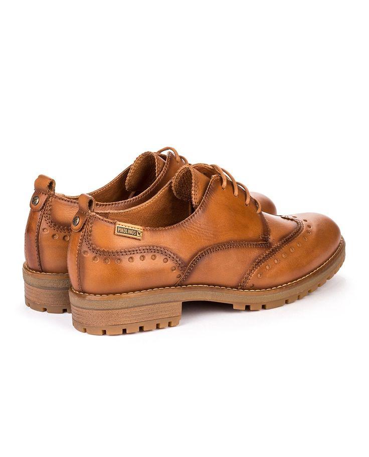 Zapatos de cordones de mujer Pikolinos de piel vacuna marrones · Moda · El Corte Inglés