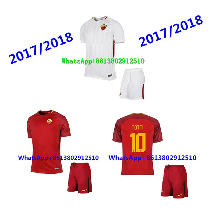 Hot sales 2017/18 Top Best Qualit Short Romaes Adult kits clothes Soccer  jersey 17