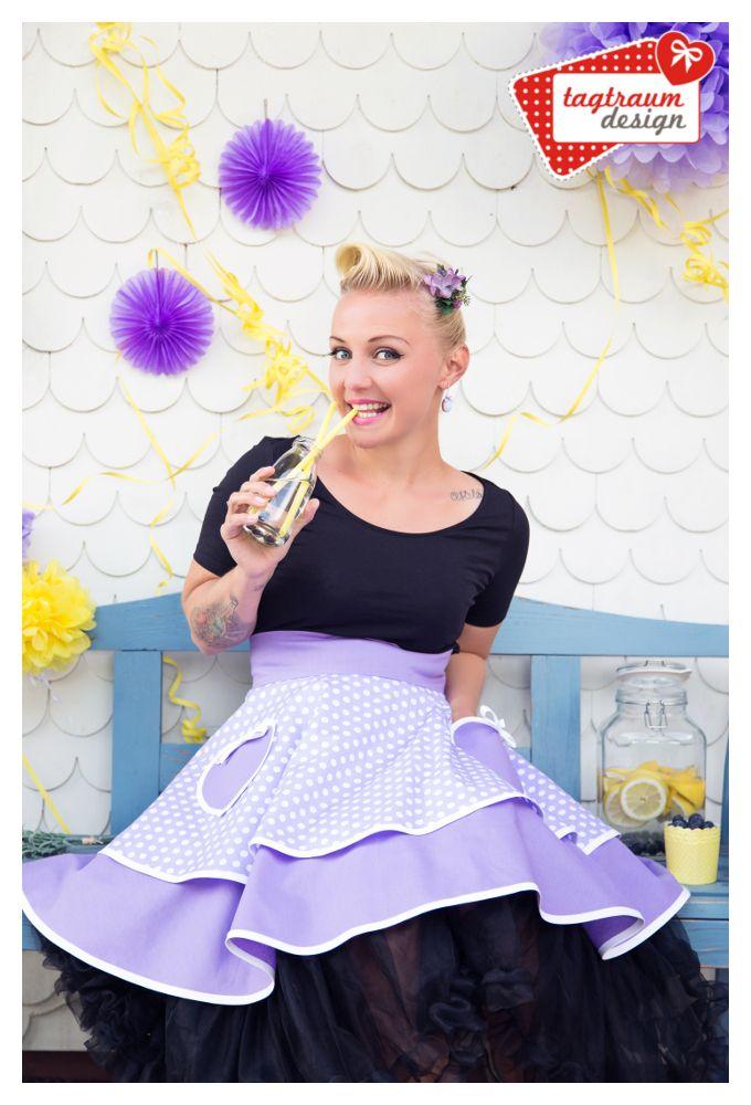 Peggy Sue ♥ Sweet Lavender ♥ Half Apron www.tagtraum-design.com