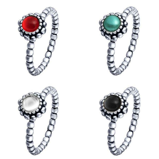 De prata esterlina 925 anéis Birthstone europeia elegante bijuterias para festa de aniversário do anel de casamento mulheres Top Quality