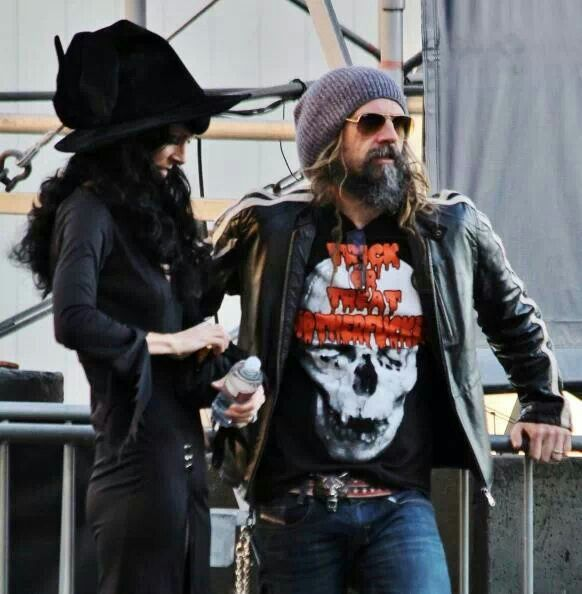 Rob Zombie and his wife Sheri.