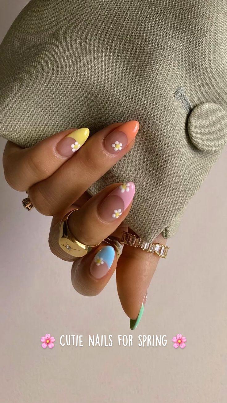 Simple Acrylic Nails, Best Acrylic Nails, Acrylic Nails Coffin Short, Acrylic Nails Designs Short, Acrylic Spring Nails, Spring Nail Art, Coffin Nail, Short Nail Designs, Acrylic Nail Art