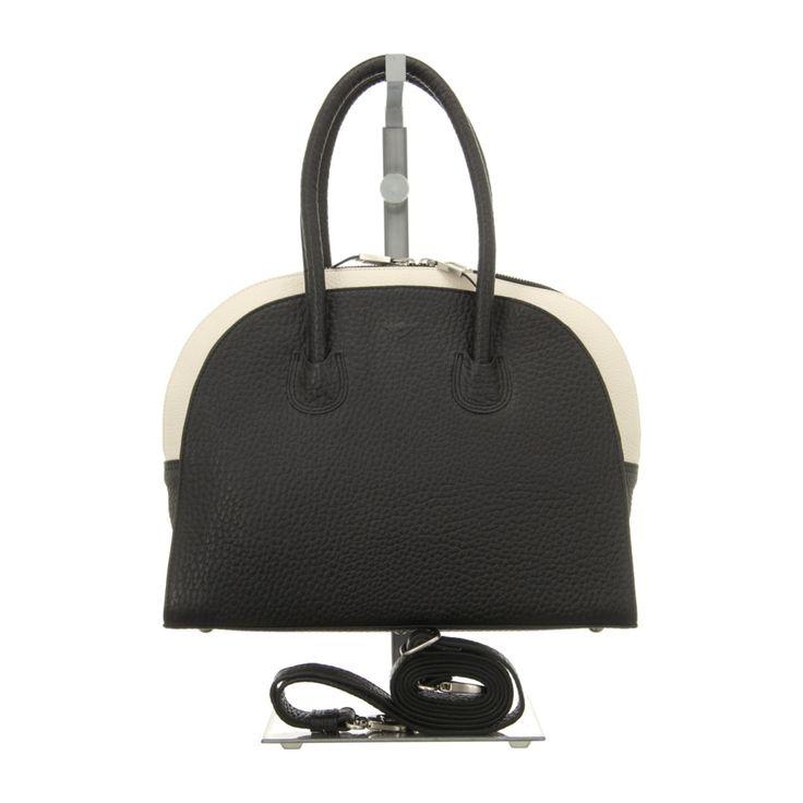 NEU: Voi Leather Design Handtaschen Kurzgrifftasche - 21853 SZ/WS - schwarz/weiss -