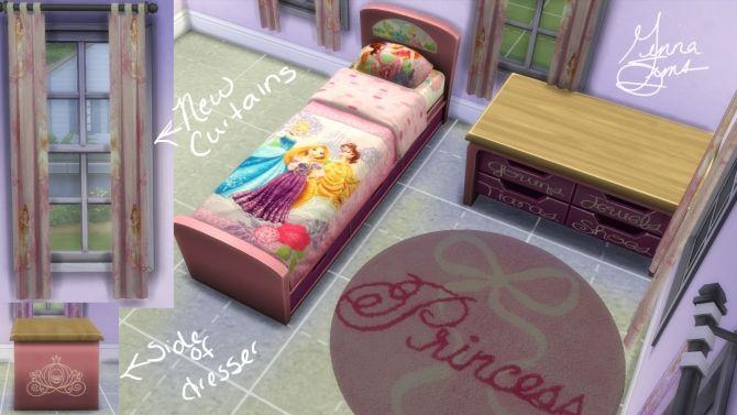 Disney Princess Bedroom Set by ginnawilson at Mod The Sims via Sims 4 Updates