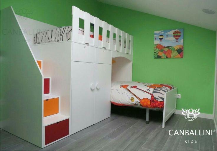 Literas con camas en l para habitaciones infantiles y for Habitaciones juveniles baratas online