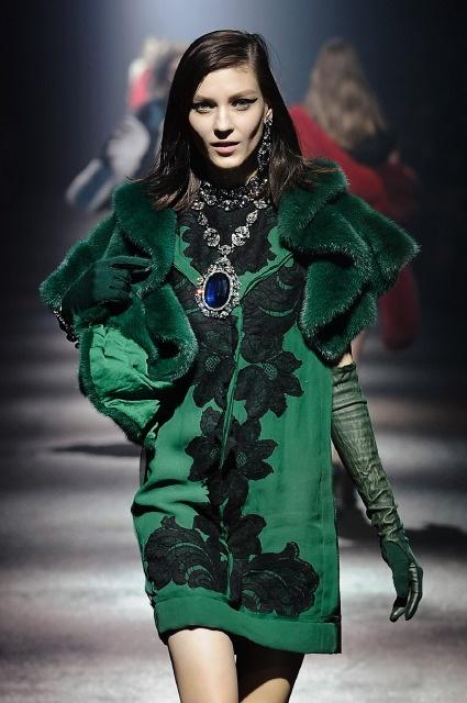 Lanvin...all of AW12/13's key looks..velvet, pine green, motifs, fur