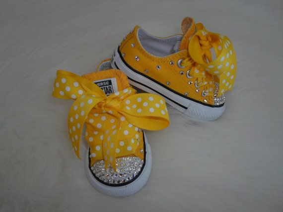 Beeutiful  baby infant toddler Converse by Blingitonyouboutique, $59.99