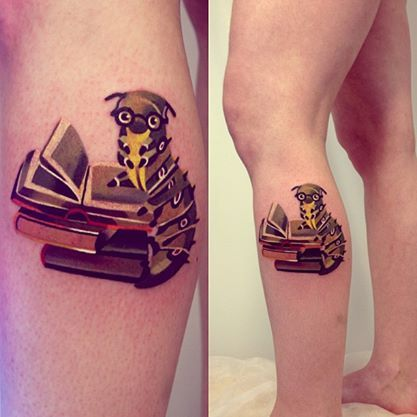 caterpillar tattoo by Sasha Unisex - Design of Tattoos