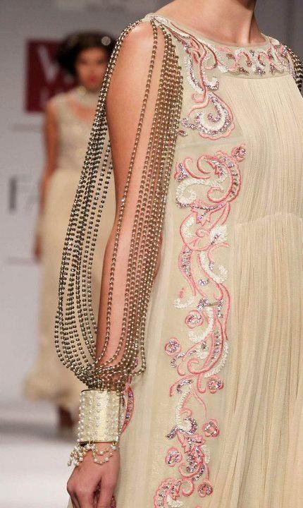 Lovely beads and chiffon.