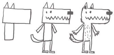 Comment dessiner un loup le loup pinterest i am - Comment dessiner un train ...