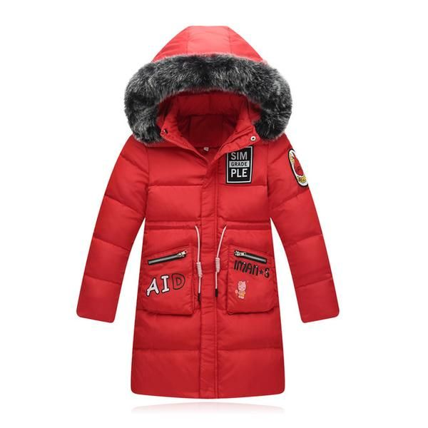 7-14 Years Girls Winter Down Jackets 2017 Kids Long Parka Coats For Cold Children's Warm Down Outerwear Clothing
