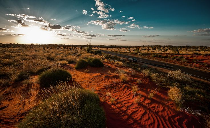 On the road to Uluru in the NT. A land of magic & spectacle.