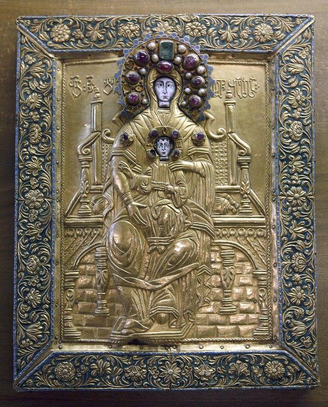 Thronende Gottesmutter   georgisch   Bildindex der Kunst & Architektur